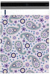 200 Bags 100 10x13 Purple Paisley 100 10x13 Roses Designer Poly Mailer