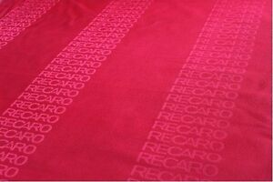 Red 4mx1 6m Auto Recaro Fabric Racing Car Seat Cover Cloth Decoration Material