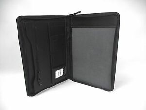Black Leather A4 Folder Portfolio With Personalisation Option Pa125 Gift Box