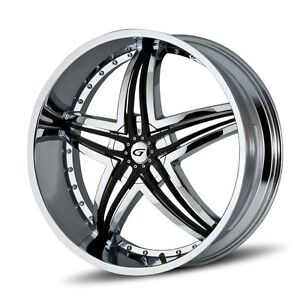 24 Inch 24x10 Gianna Blitz Chrome Wheel Rim 5x115 35
