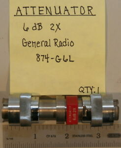 Gr874 Attenuator 6db 2x General Radio P n 874 g6l