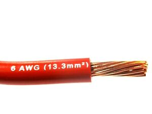 Mtw 6 Awg Gauge Red Stranded Copper Sgt Primary Wire 10 Ft