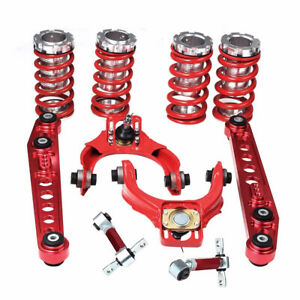 For 96 00 Civic Suspension Coilover Sleeves Lower Control Arms Adjust Camber Kit