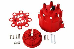 Msd Pro Billet Distributor Cap And Rotor Male Hei Clamp Down 84335