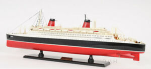 Ss France Ocean Liner Wooden Model 32 French Cruise Ship New