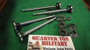 Jeep Willys M38a1 Cj3b 134f Exhaust Valve Kit New Style