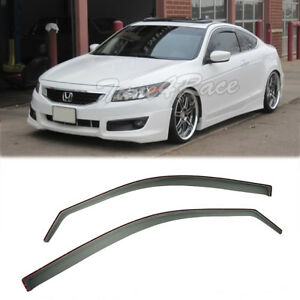 For 08 12 Honda Accord In Channel Side Window Visors Rain Guards 2dr Coupe Jdm