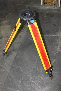 Vintage K E Keuffel Esser Transit Tripod Red Yellow