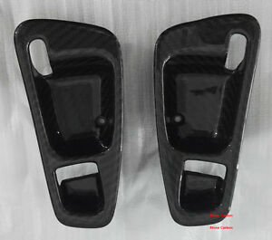 Real Dry Carbon Fiber Handle Bowl Covers For Honda Civic Eg 92 95