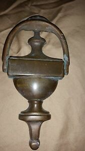 Vintage Cast Iron Brass Copper Plain Door Knocker