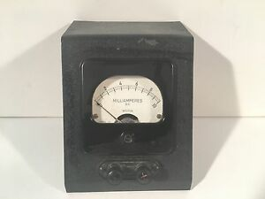 Vintage Weston Instruments D c Milliamperes Gauge 0 10 Model 301