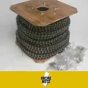 60 60 1 Roller Chain 100ft Reel W 10 Master Links Ansi 60r 60 1r 3 4 Pitch