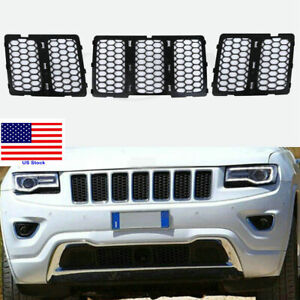 Black Abs Front Mesh Grill Insert Kits For Jeep Grand Cherokee 2014 2015 2016