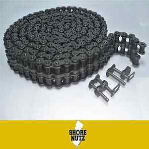 120 2 120 2 Duplex Roller Chain 10ft W 2 Master Links 120 2r 1 1 2 Pitch