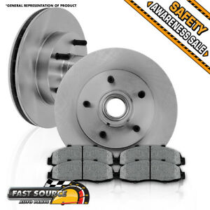 Front 308 Mm Oe Brake Rotors And Metallic Pads 1997 1998 1999 Ford F150 2wd Rwd