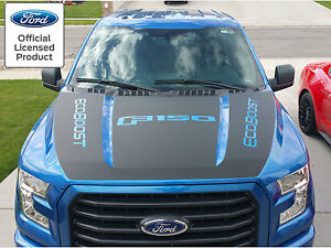 2017 New Ford F 150 Hood Blackout W Ecoboost Vinyl Graphics Decal Stripes 15 17