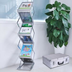 Popup Magazine Display Rack Case Portable Holder Brochure Literature Tradeshow