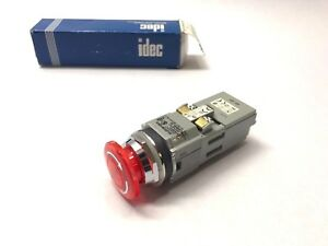 New Idec Avld312611dn r Red Illuminated Pushbutton Heavy Pilot Duty Std Light