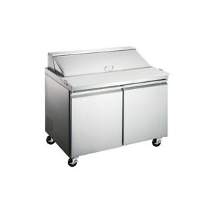Peakcold 47 Stainless Steel Restaurant Refrigerated Sandwich Prep Table