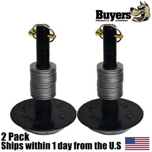 Set Of 2 Snowplow Center Plow Shoe Assy Compatible With Boss Msc01570 1304712