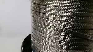 On Reel 100 Feet Flat Braided Tinned Copper Wire 3 16 Wide Ground Strap Usa