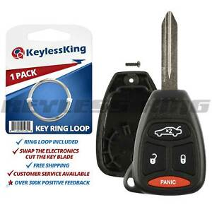 Replacement Remote Key Fob Shell Pad Case For 2005 2006 2007 Chrysler 300