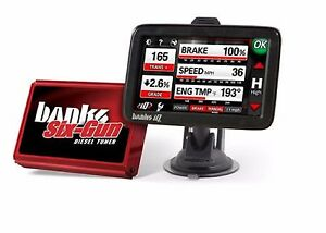 Banks Power Six Gun Diesel Tuner W Iq Dashboard For 07 10 Chevy Gmc Duramax