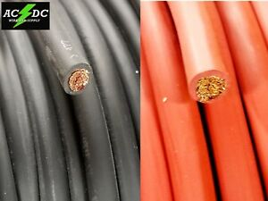 2 Gauge Awg Welding Lead Car Battery Cable Copper Wire Made In Usa Solar