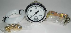 New 2 1 16 Mechanical Oil Pressure Gauge W Install Kit By Make Waves 0 100 Psi