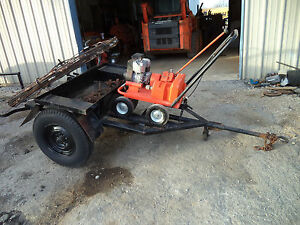 General Rodrunner 5hp Model E Sewer Rodding Machine Trailer Tools 200 Ft Rod