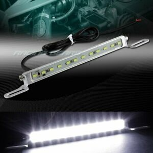 7000k Xenon White 12 smd Led Drl Bolt on Car Truck License Plate Light Universal