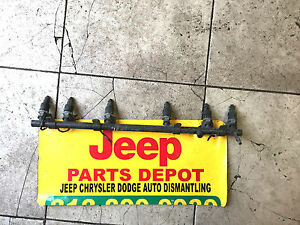 Jeep Grand Cherokee Wrangler Fuel Rail With Yj Tj Xj Cj Wj Oem Mopar Used