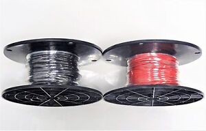 16 Gauge Wire Red Black 100 Ft Ea On Spool Primary Mtw Stranded Copper Power