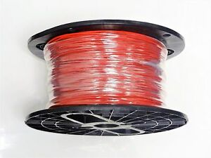 16 Gauge Wire Red 400 On A Spool Primary Awg Stranded Copper Power Ground Mtw