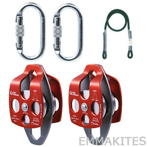 32kk Block And Tackle Pulley System Kit With Prusik For Tree Cli