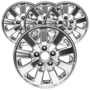 16 Machined And Silver Rim By Jte For 2008 2010 Honda Odyssey 16x7 Set Of 4