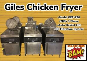 Giles Electric Deep Fryer With Filter System And Auto Lift Gef 720