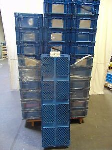30 Orbis Solid Wall Container Stacking Parts Bins 48 X 15 X 7 5 Tall