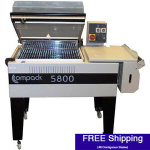 Shrink Wrap Machine Compack 5800 L bar System W Integrated Heat Tunnel 18 W
