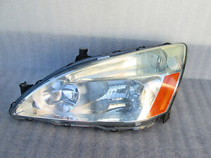 2003 2004 2005 Honda Accord Left Driver Headlight Headlamp Used Oem
