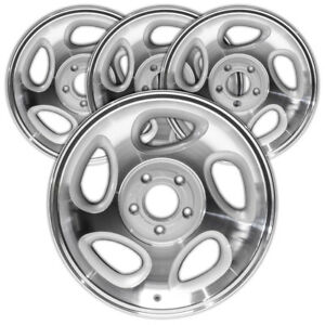 16 Mach D Sparkle Silver Rim By Jte For 1998 00 Ford Explorer 16x7 Set Of 4