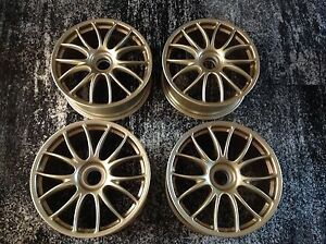 Oem Ferrari 430 F430 Challenge F360 360 Bbs Center Lock Set 4 Wheels Gold 19