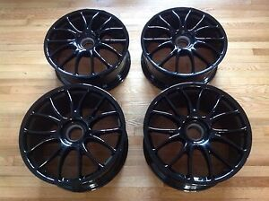 Oem Ferrari 430 F430 Challenge F360 360 Bbs Center Lock Set 4 Wheels Black 19