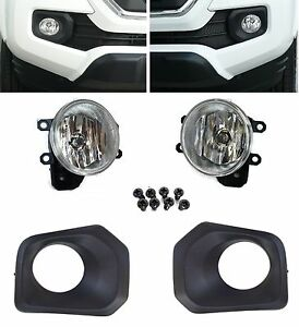 Replacement Fog Light Kit For 2016 2017 2018 Tacoma Lamps Bezels Clear H16 Bulbs