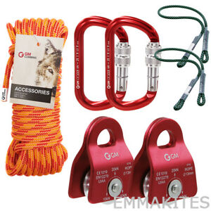Tree Climbing Kit Pulley System With Rope Prusik For Arborist Rescue Hauling