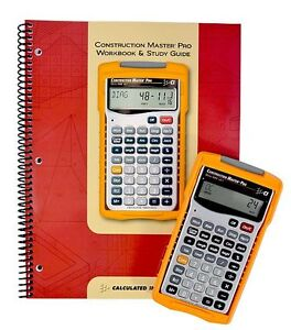 Calculated Industries Construction Master Pro Calculator 4065 With Workbook