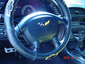 C5 Corvette Steering Wheel Yellow Flag Overlay 4 Colors Available