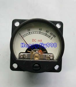So 39 100ma Vu Panel Meter With Backlight For Tube Amplifiers Cd Players