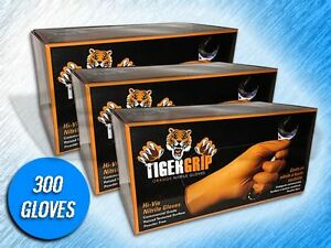 300 Tiger Grip 7 Mil Heavy Duty Orange Textured Nitrile Gloves choose Size