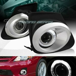 For Toyota Corolla Le Xle Xrs Halo Projector Fog Driving Lights W chrome Trim